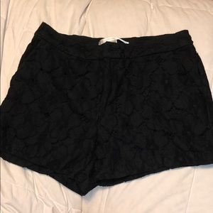 Lacy black shorts